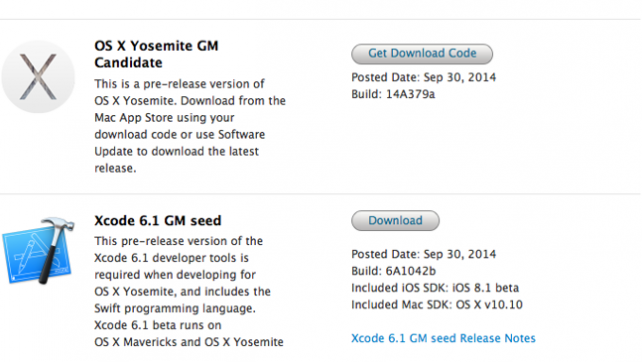 Apple Releases OS X 10.10 Gold Master to Developers and Rolls 4th Public Release.
