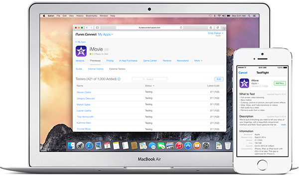 Apple TestFlight Now Beta Testing, brings early access to Apps.